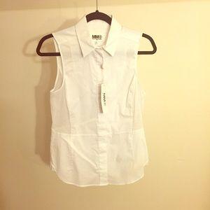 MM6 Sleeveless cotton blouse